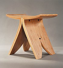 Bamboo Stool by David N. Ebner (Bamboo Stool)