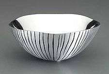 Grooved Metal Bowl by Robert Wilhelm (Metal Bowl)