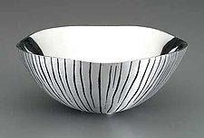 Grooved Metal Bowl by Robert Wilhelm (Metal Bowl)