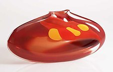 Purse Vase: Red by Bengt Hokanson and Trefny Dix (Art Glass Vase)