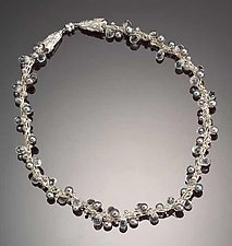 Crescendo Crystal Necklace: Silver Pearls by Sharmen Liao (Silver, Crystal & Pearl Necklace)