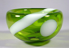 Citron Bubble Bowl by Cristy Aloysi and Scott Graham (Art Glass Bowl)
