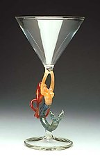 Mermaid Ascending (Redhead Martini) by Milon Townsend (Art Glass Goblet)