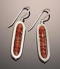 Carnelian Earrings by Ayala Naphtali (Silver & Stone Earrings)
