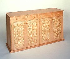 Checker Board by John Kingsley (Wood Sideboard)