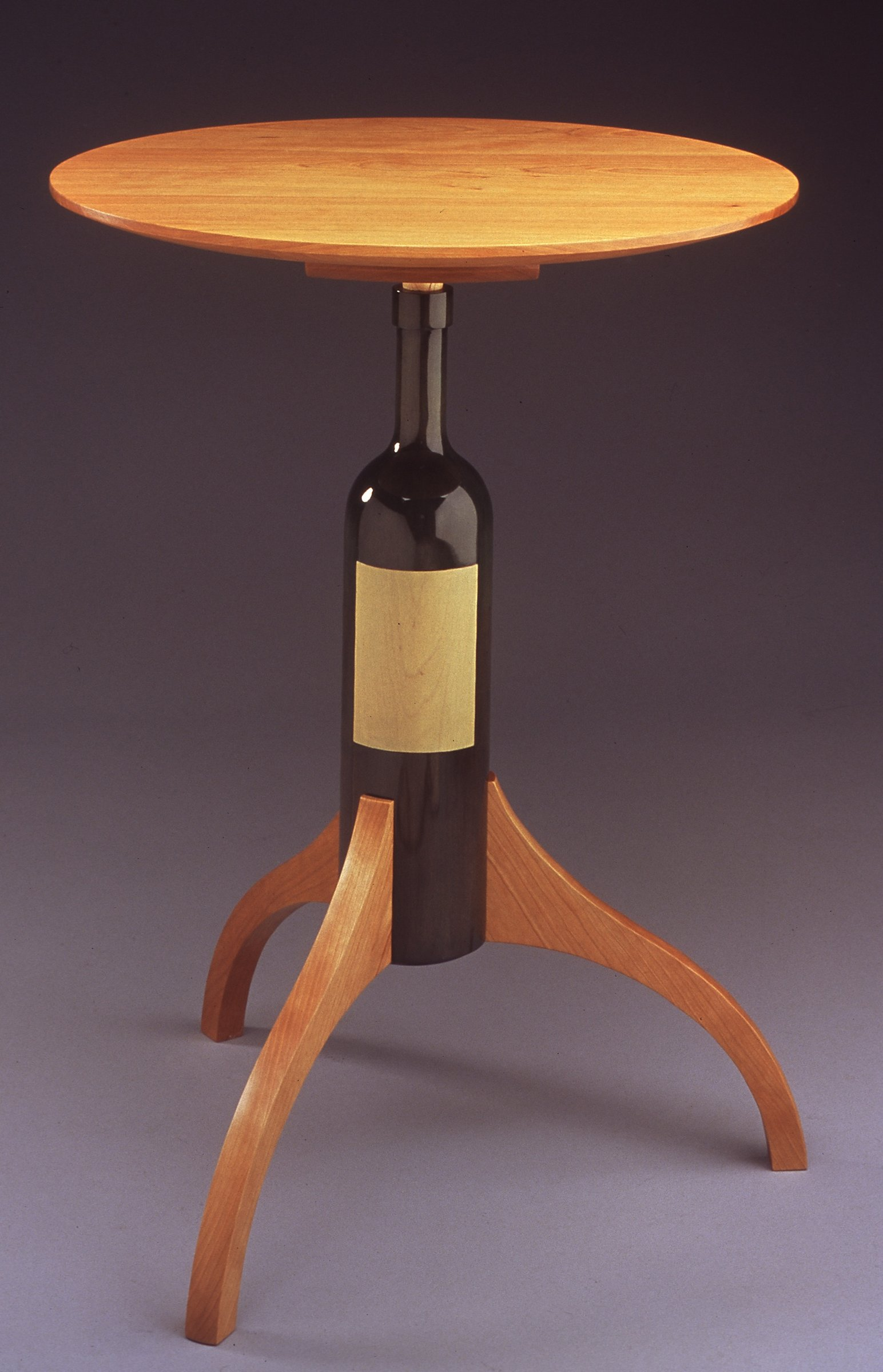 wine bottle table by duncan gowdy wood side table