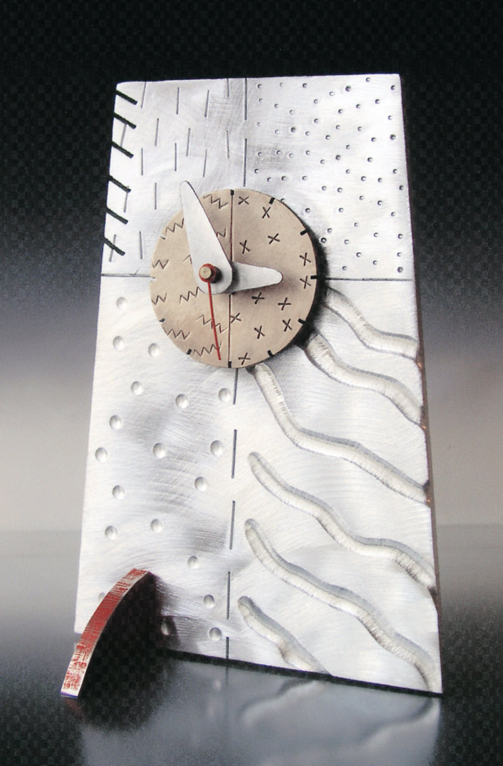 'Tilt' Tech Tile Clock by Thomas Mann (Metal Clock)