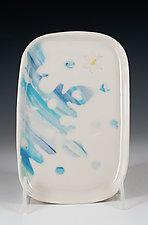 Porcelain Snowflake Tray by Carol Barclay (Ceramic Tray)
