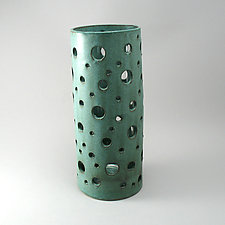 Bubble Vase in Weathered Bronze Finish by Cheryl Wolff (Ceramic Vase)