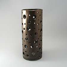 Bubble Vase in Bronze Finish by Cheryl Wolff (Ceramic Vase)