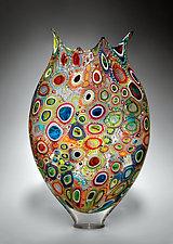 Mixed Murrini Foglio by David Patchen (Art Glass Vessel)
