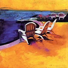 Beach Chairs by Joan Skogsberg Sanders (Giclee Print)
