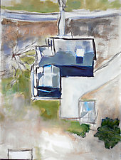 The House Next Door by Suzanne DeCuir (Oil Painting)