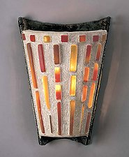 Curved V Sconce by Terence S. Dubreuil (Concrete & Glass Sconce)