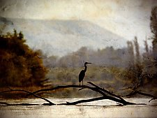 Song of a Great Blue Heron II by Yuko Ishii (Color Photograph)