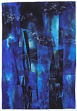 Central Park West Night I by Linda Levin (Fiber Wall Hanging)