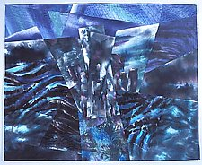Central Park West Night II by Linda Levin (Art Quilt)