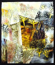 Walking Dogs / September by Linda Levin (Art Quilt)