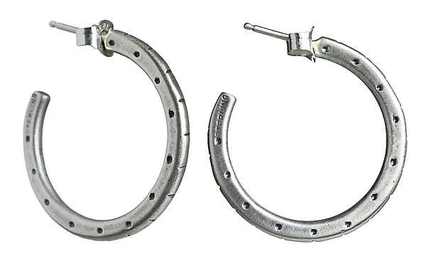 Stamp Hoop Earrings