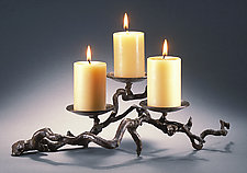 Three-Candle Candleholder #2 by Carol Green (Bronze Candleholder)