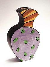 Purple, Yellow & Red Vase by Diana Crain (Ceramic Wall Art)