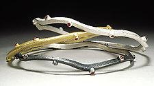 Branchy Bangle by Dahlia Kanner (Silver & Stone Bracelet)