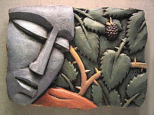Fig 3a by Steve Gardner (Ceramic Wall Sculpture)