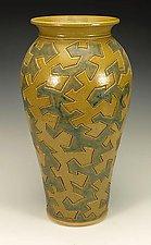 Zig Zag Puzzle Vessel by Lance Timco (Ceramic Vessel)