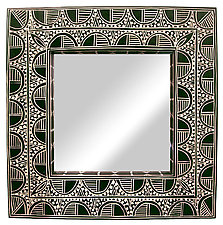 Square Frame Mirror by Jenna Goldberg (Wood Mirror)