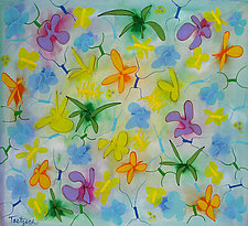 Spring Cavort by Lynne Taetzsch (Acrylic Painting)