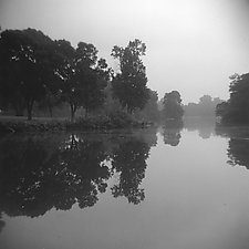 Morning Reflections by Vicki Reed (Black & White Photograph)