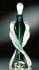 Tapered Twist Perfume Bottle by Thomas Kelly (Art Glass Perfume Bottle)