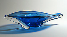 Oval Eye Platter: Cobalt by Suzanne Guttman (Art Glass Vessel)