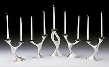 Exuberance Candelabra by Lisa Slovis (Pewter Candleholders)