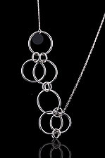 Dots and Bubbles Necklace by Diana Widman (Silver Necklace)