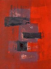 Red Arrangement No.6 by Sandra Humphries (Monotype Print)