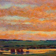 Sunset Pond by Ken Elliott (Giclee Print)