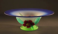 Cobalt Fade Compote by Tommie Rush (Art Glass Bowl)