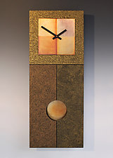 Jane Pendulum Clock in Gold by Leonie  Lacouette (Wood Clock)