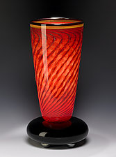 Venetian Red Lamp by Eric Bladholm (Art Glass Table Lamp)