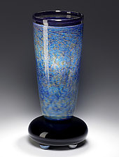 Blue-Purple Impressionist Lamp by Eric Bladholm (Art Glass Table Lamp)