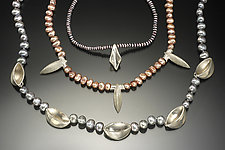 Baleen Necklace by Lisa Slovis (Silver & Pearl Necklace)