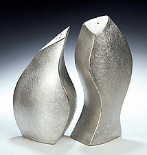 Coupling Salt & Pepper by Lisa Slovis (Pewter Salt & Pepper Shakers)