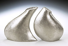 Leaning Salt & Pepper by Lisa Slovis (Pewter Salt & Pepper Shakers)