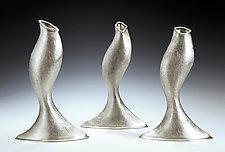 Omm Vase by Lisa Slovis (Pewter Vase)