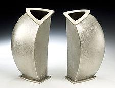 Slice Vase by Lisa Slovis (Pewter Vase)