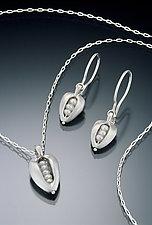Pearl Pod Pendant & Earrings by Kathleen Lynagh (Silver & Pearl Earrings & Pendant)