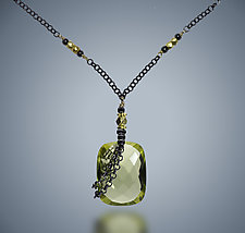 Citrine and Silver Necklace by Judy Bliss (Silver & Stone Necklace)