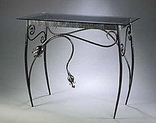 Spring Console Table by Rachel Miller (Steel Hall Table)