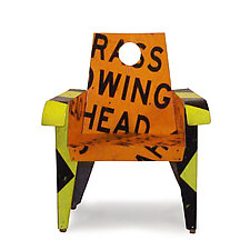 Shoulder Work Ahead Broadway Armchair by Boris Bally (Metal Chair)